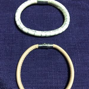 Brighton leather bracelets for charms or beads.